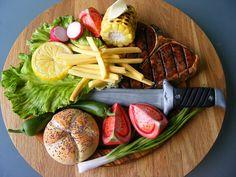 Steak with vegetales cake by bubolinkata, via Flickr
