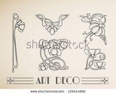 Vector art deco ornamental flower pattern by Sisa Szepe, via Shutterstock
