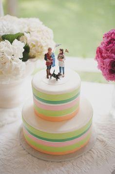 This cake is awesome. From http://ruffledblog.com/small-michigan-backyard-wedding/