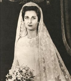Marina's daughter, Alexandra, wore her mother's fringe tiara when she wed in 1963.