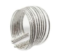 10 Handmade Hammered Sterling Silver bangles Cuff by SilverShapes