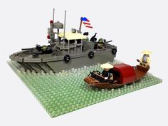 Lego Ship, Lego Military, Lego Construction, Photo Projects, Legos, Display, Toys, City, Water