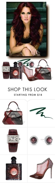 """""""What do you drink? A Burgundy? #3."""" by babysnail ❤ liked on Polyvore featuring Proenza Schouler, Stila, Cartier, Belk Silverworks, Yves Saint Laurent and Christian Louboutin"""
