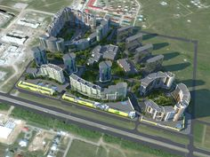 Проект - Микрорайон г.Саратов. Архитектурное бюро - «АК-АРКРОН»