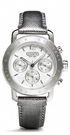 beautiful leather strap COACH watch http://rstyle.me/n/k8sizr9te