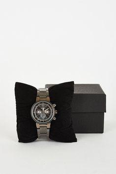Bracelet Black Watch With 3 Decorative Sub-Dials