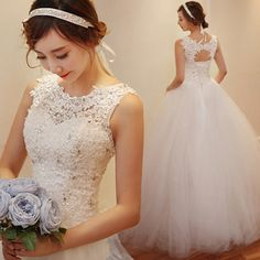 f9f9dbd4b350  US 91.20 (▽70%)New Design Ball Gown Crystal Beads Tulle Lace Wedding Dress  2016 Bridal Dress Lace Wedding Dresses Wedding Gown White Dress Wedding Gown