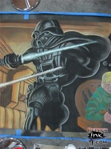 Star Wars Ralph McQuarrie concept painting chalk mural by chalk artist Eric Maruscak.