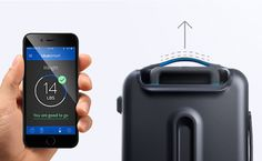 Smart Suitcase Communicates Weight, Location, and Can Lock Through App - My Modern Met