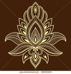 Henna tattoo flower template in Indian style. Flower Tattoo Designs, Henna Designs, Flower Tattoos, Flower Henna, Embroidery Motifs, Hand Embroidery Designs, Lotus Tattoo, Mandala Tattoo, Tattoo Henna