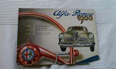 Alfa Romeo 1900 Berlina - 1900 C Coupe Cabriolet - 1900 L Cabriolet Victoria - Prospekt Brochure, italienisch