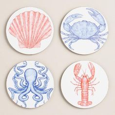 One of my favorite discoveries at WorldMarket.com: Nautical Coasters Set of 4