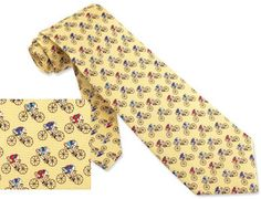Road Bicycle Race Tie Yellow