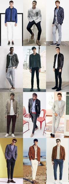 Men's Suede Shoes and Jackets Spring/Summer Outfit Inspiration Lookbook