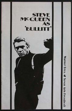 BULLITT Movie Poster (1968) Steve McQueen