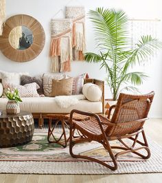 Bridgid Lounge Chair, Chestnut - Home Design Boho Living Room, Living Room Decor, Bedroom Decor, Bedroom Bed, Coastal Living, Wall Decor, Wall Art, Living Room Furniture, Home Furniture