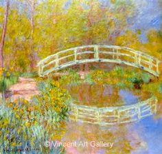 Monet's Paintings in the Louvre   The Bridge in Monet's Garden by Claude Monet