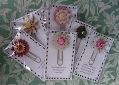 Cat 'n Cart Crafts: Small gifts - Bookmarks Jw Gifts, Felt Gifts, Craft Gifts, Pioneer School Gifts, Pioneer Gifts, Small Crochet Gifts, Small Gifts, Paperclip Crafts, Jw Convention