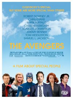 Example of how graphics can change perceived movie genre-- Avengers poster, done up as an indie film.