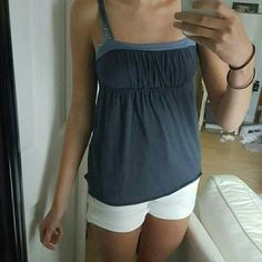 Flowing Navy Tank ABERCROMBIE Flowing bottom and adjustable bust lining. Lightly used. Size is XL but Abercrombie runs small and im a medium so I'd say it's a fair M-L  LISTED $10 OBO Abercrombie & Fitch Tops Blouses