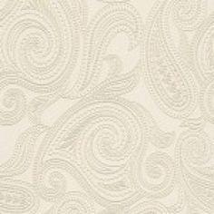 Papel de parede  vinílico-Barbara Becker-Fundo bege com desenhos dourados , cód :716702