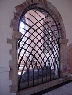 Little Newsham Forge by Blacksmith Brian Russell - Brancepeth Screen, A forged steel screen in the church of St. Brandon near Durham.
