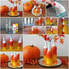 How To Make Candy Corn Colored Vases