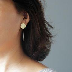 Name Earrings, Minimalist Earrings Name Earrings, Bar Stud Earrings, Round Earrings, Minimalist Earrings, Minimalist Jewelry, Minimal Fashion, Aliexpress, Handmade Silver, Sterling Silver Earrings
