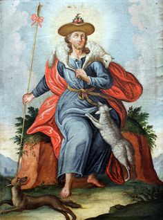 Unknown artist from Lower Bavaria. Christ as the Good Shepherd,1750.