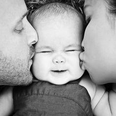 Baby Kiss by amirsaidi - Newborn Smiles Photo Contest