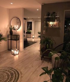 Cozy Living Rooms, Home Living Room, Apartment Living, Living Room Designs, Living Room Decor, Apartment Ideas, Rooms Home Decor, Bedroom Decor, House Rooms