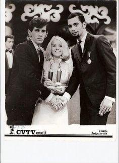 Trino Mora y Nancy Ramos cuando trabajaban en CVTV canal ocho años 60s