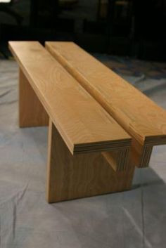 an easy and cheap plywood bench to make.