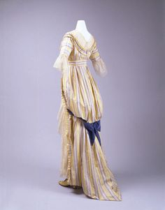 A brilliant, 18th century inspired dress by the House of Drécoll, 1912.