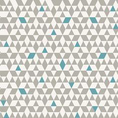 House By John Lewis Wallpaper Triangles Smoke Yellow Batch A
