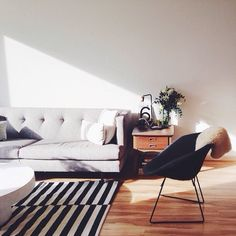 simple, living room, modern