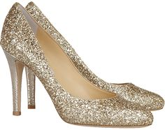 d9a8485be70 Jimmy Choo Vikki glitter-finished leather pumps - gorgeous Glitter Heels