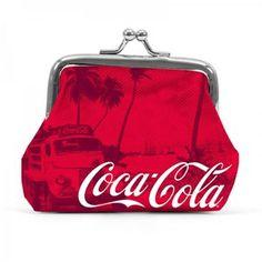 Porta Moedas Coca-Cola Vermelho Tropical #retro #coca-cola