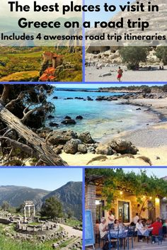 The best places to visit in Greece on a road trip. Includes 4 awesome road trip itineraries.