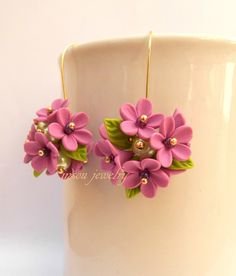 Flower Dangle Earrings Spring Earrings Handmade от insoujewelry