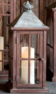 The contrasting wood, glass and galvanized textures create a rustic but classy feel in this sharp looking lantern. This lantern is so versatile. Move it from room to room as the seasons change or brin