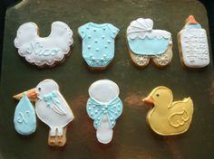 Galletas decoradas de bebé-Baby shower icing decorated cookies