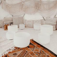 Five Sense Collective Sound Healing Bowls — Five Sense Collective Meditation Room Decor, Meditation Corner, Meditation Altar, Best Meditation, Meditation Space, Guided Meditation, Zen Room, Relax Room, Sound Bath