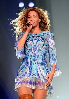 Beyoncé performs on stage during 'The Mrs. Carter Show World Tour' at the Barclays Center on August 3, 2013 in New York City