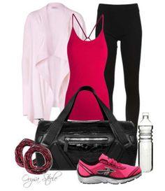 Hot pink workout gear