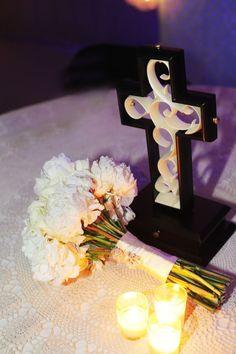 Unity cross instead of traditional unity candle #wedding #unitycross