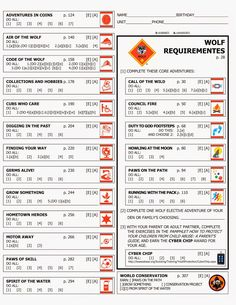 Kara's Cub Stuff: Forms for new cub program Wolf rank