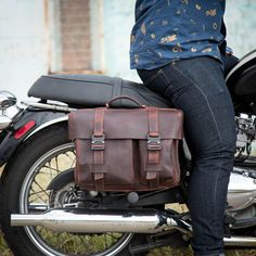 Revival Palo Duro Leather Pannier Handmade In-House by Revival Cycles