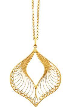 Mallarino Claudia 24-karat gold-vermeil filigree necklace