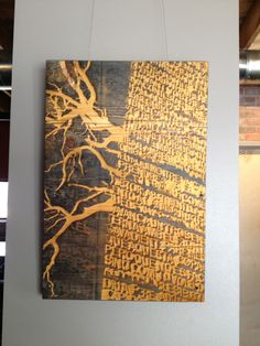"""""""root of our word"""" - laser engraving"""
